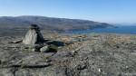 Varden på toppen av Russefjellet.
