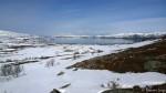 Første lengre pause, tar på å søkke gjennom snøen.