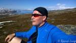 En liten rast i fjellsiden av Russefjellet