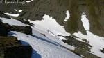 Masse snø i fjellet ennå.