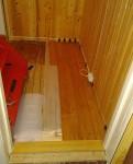 Hadde bambus til overs, legges i gangen