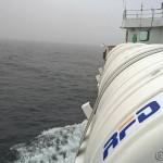 Ferga til Gryllefjord ble en spennende affære, skikkelig rulling kor mange av passasjerene ble sjøsjuk