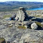 Varden på toppen av Russefjellet (kor æ trudde klippetanga var)