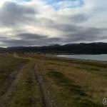 Lengst borte langs fjæra mot utløpet av Russelva