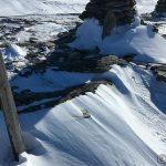 Trimpostkassa er nesten helt borte i snø