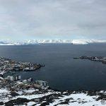 Hammerfest by, litt overskyet, men hva gjør vel det