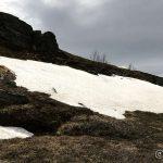 Det er som sagt mye snø i fjellene og her må æ passere over