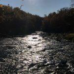 Idyllisk å sitte og nyte elven