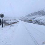 Og det snødde tett hele veien til enden av 60-sonen.