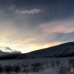 Fine skyer på himmelen i dag, såkalte perlemorskyer