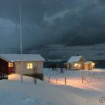 Etter snørydding ved postkassene, gikk æ til Masterelva før æ ryddet snø ved fjøsen