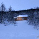 Gikk opp til denne hytta, ca. 1 km. fra Storberget