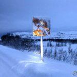 På tur tilbake og skiltet informerer om at det er 900 meter til Storberget