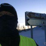 Ankommet Storberget og vinden var skikkelig kald oppover Russelvdalen