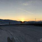 Siste glimt av sola, sett fra kråkeberget