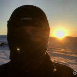 Første gang æ ser hele solskiven, så det feires med en selfie