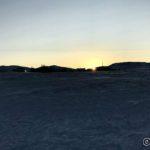 På returen fra Masterelv så æ sola fra fylkesveien rett etter at æ hadde passert huset til ho Astrid
