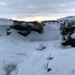 Kom et lite snev av sol da æ passerte Kokelvfossen