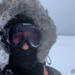 ...fokkbrillene slik at trimturen kunne fortsette og det var litt snøføyka