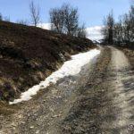 Eneste stedet langs veien opp dalen kor det ennå er snø