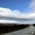 Måtte stoppe og ta bilde av de rart utforma skyene ta æ kjøre ned Russelvdalen