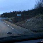 Etter lang kjøring i Sverige entrer jeg Norge rett før Hattfjelldal