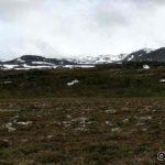 På tur innover dalen og observerte nysnø på Masterelvfjellene