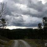 På hjemturen kom det tunge skyer, men ingen regn. I skrivende stund (kl. 15:20) har regnet kommet