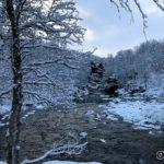 Kokelvdalfossen i vinterskrud