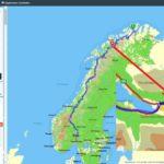 Oversikt over gått distanse Kokelv-Oslo og retur, hvis æ hadde fulgt E6 slavisk