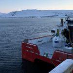 Utsikt mot Kokelv, sett fra NRS sitt anlegg på Masterelv