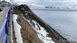 Skulle ønske at kommunen kunne fjerne snøen på Jernbanetrasken, det tar sikkert lang tid å smelte